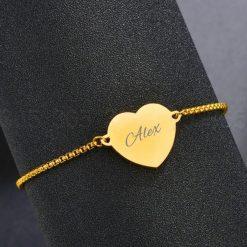 Armband met hartje met naam